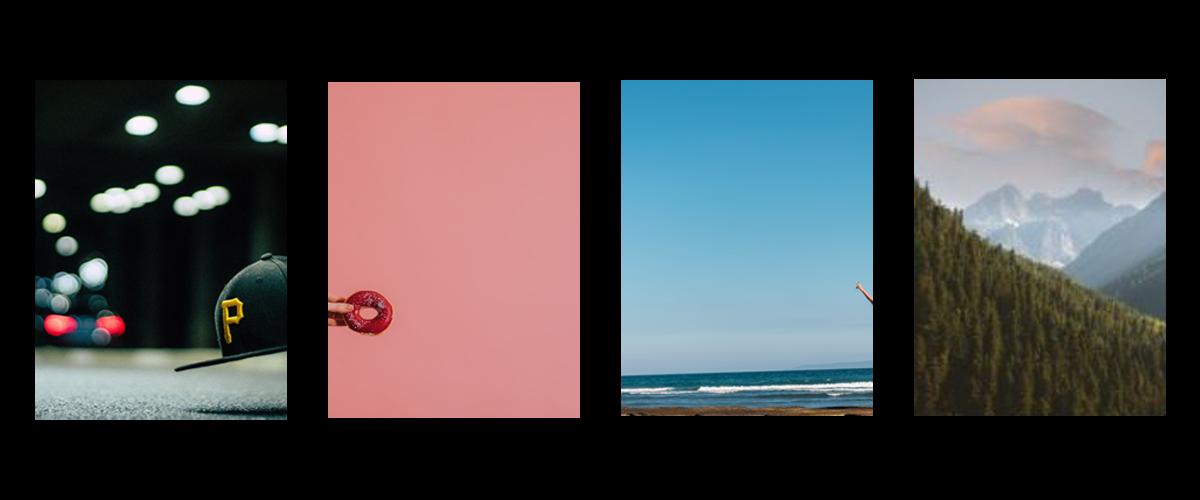Galerie mit Bilder ohne Fokussierung auf eigentliche Bilszenen
